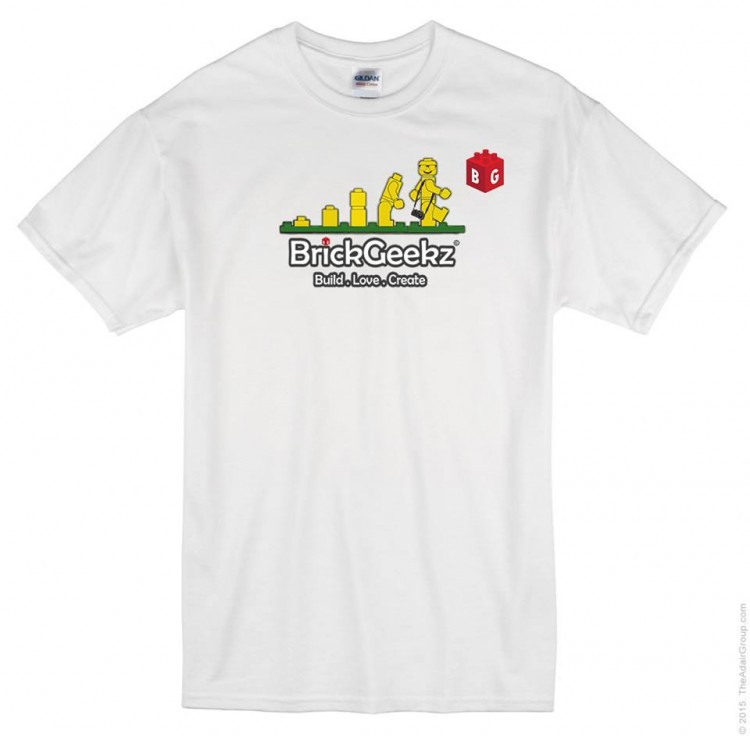 White Brickgeekz T - shirts